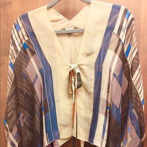 Rozae Nichols 100% silk wrap/top.
